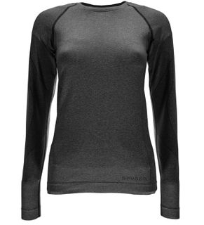 SPYDER RUNNER WOMENS THERMAL COMPRESSION TOP - BLACK - SIZE M/L