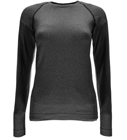 SPYDER RUNNER WOMENS THERMAL COMPRESSION TOP - BLACK - SIZE XS/S