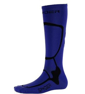 SPYDER PRO LINER WOMENS SOCKS - BLUE MY MIND/BLACK