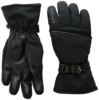 SPYDER SNOW DAY MENS GLOVES - BLACK/POLAR - SIZE M
