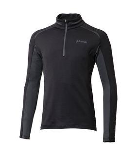 PHENIX PARACHUTE 1/2 ZIP T-NECK MENS TOP - BLACK - SIZE 2XL