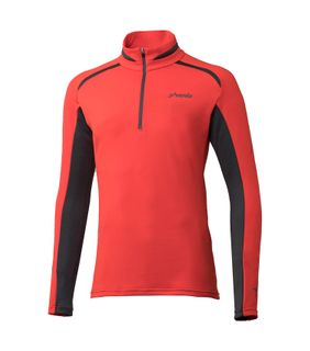 PHENIX PARACHUTE 1/2 ZIP  T-NECK MENS TOP - RED