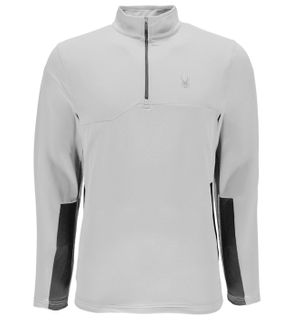 SPYDER COMMANDER THERMASTRETCH T-NECK MENS TOP - WHITE/POLAR - SIZE S