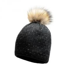 STARLING IMAGINE REAL FUR POM POM WOMENS BEANIE - COLOUR H