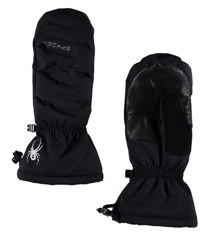 SPYDER CANDY DOWNHILL WOMENS MITTENS - BLACK/BLACK - SIZE M