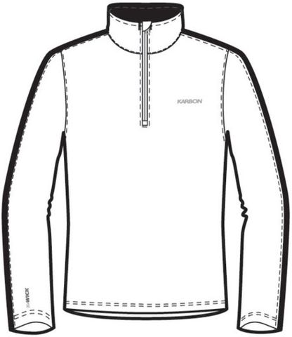 KARBON CHRONUS 1/4 ZIP MENS TOP - A1 - SIZE S