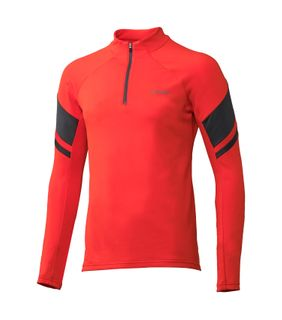 PHENIX SNOW TRAIL T-NECK MENS TOP  - RED
