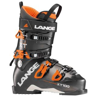 LANGE XT100 MENS SKI BOOTS (2018) - ANTHRACITE/ORANGE