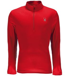 SPYDER LIMITLESS 1/4 ZIP MENS TOP - RED - SIZE M