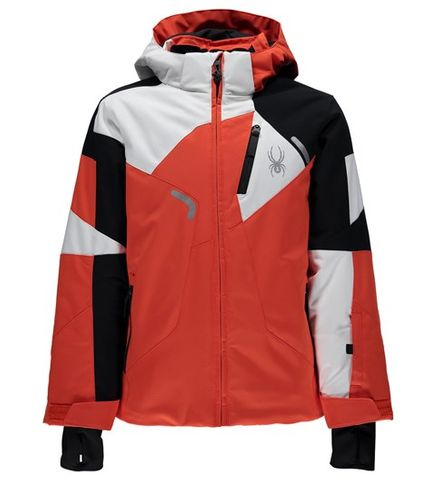 SPYDER LEADER BOYS JACKET - BURST/BLACK/WHITE - SIZE 16
