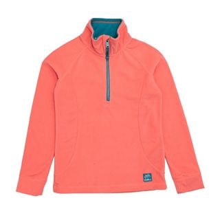 O'NEILL SLOPE HALF ZIP GIRLS TOP - FUSION CORAL - SIZE 6