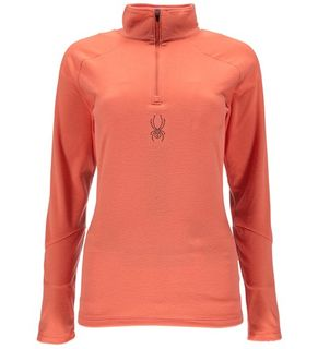 SPYDER SHIMMER ('18) WOMENS TOP - CORAL - SIZE M