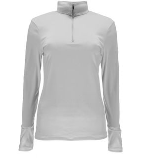 SPYDER TURBO T-NECK WOMENS TOP - WHITE - SIZE L