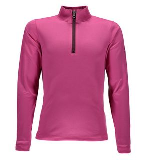 SPYDER SAVONA T-NECK GIRLS TOP - RASPBERRY/AMARANTH - SIZE M