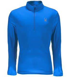 SPYDER LIMITLESS 1/4 ZIP T-NECK MENS TOP - FRENCH BLUE - SIZE L
