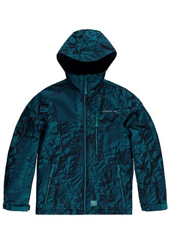 O'NEILL ARCHIVE BOYS JACKET - BLUE ALL OVER PRINT - SIZE 6