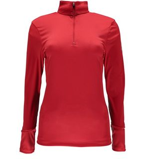 SPYDER TURBO T-NECK WOMENS TOP - RED - SIZE M