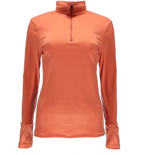 SPYDER TURBO T-NECK WOMENS TOP - CORAL - SIZE M