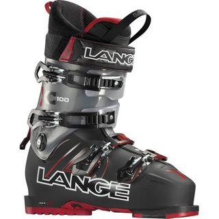 LANGE XC100 MENS SKI BOOTS - BLACK/RED - SIZE 30.5