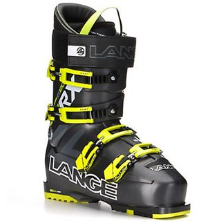 LANGE RX120 MENS SKI BOOTS - ANTHRACITE/YELLOW - SIZE 28.5