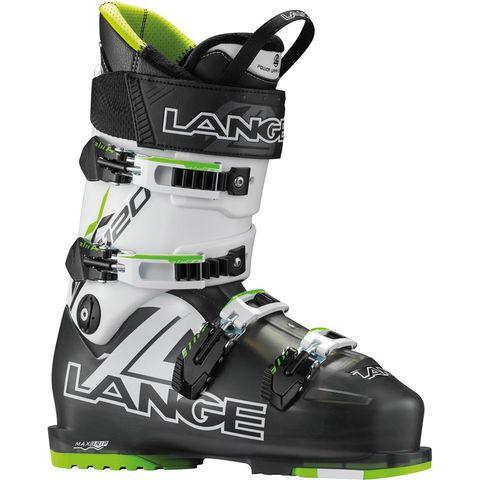 LANGE RX120 MENS SKI BOOTS - BLACK TRP/LIME - SIZE 27.5
