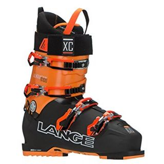 LANGE XC100 MENS SKI BOOTS - BLACK/ORANGE - SIZE 29.5