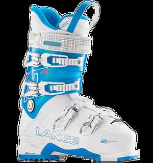 LANGE XT90W WOMENS SKI BOOTS - WHITE/BLUE - SIZE 24.5