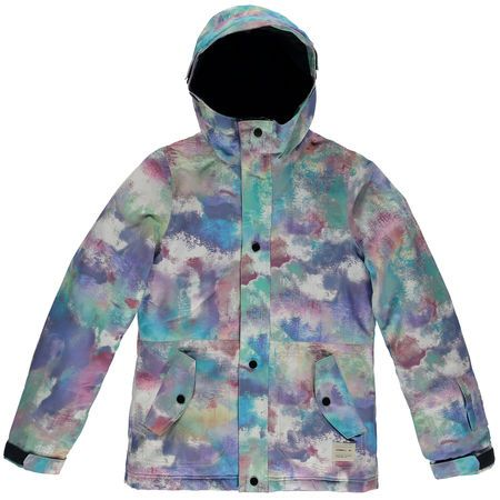 O'NEILL CLOAKED GIRLS JACKET - WHITE ALL OVER PRINT - SIZE 116/6