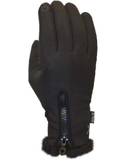 XTM NINA WOMENS SOFTSHELL GLOVES - BLACK