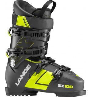 LANGE SX100  MENS SKI BOOTS - BLACK/YELLOW - SIZE 25.5
