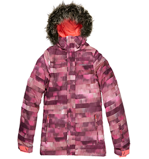 O'NEILL RADIANT GIRLS JACKET - RED ALL OVER PRINT - SIZE 140/8