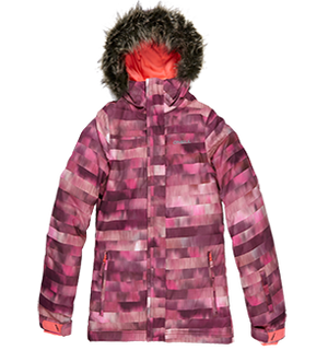 O'NEILL RADIANT GIRLS JACKET - RED ALL OVER PRINT