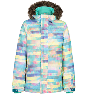 O'NEILL RADIANT GIRLS JACKET - BLUE ALL OVER PRINT - SIZE - 128/6
