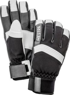 HESTRA DEXTERITY SOFTSHELL MENS GLOVES - BLACK/WHITE