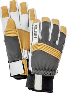 HESTRA DEXTERITY SOFTSHELL MENS GLOVES - GREY/WHITE