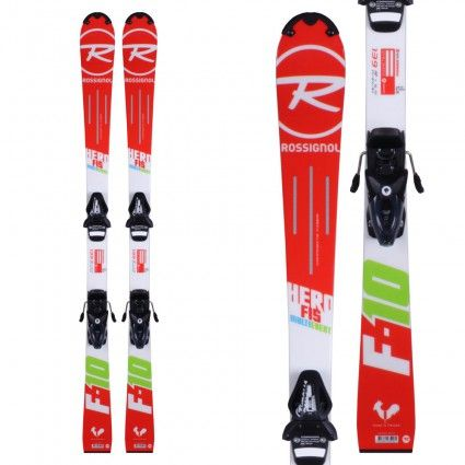 ROSSIGNOL HERO FIS MULTI EVENT KIDS SKIS WITH BINDINGS - SIZE 139cm