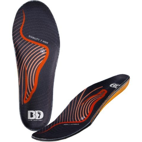 BOOTDOC STABILITY 7 HIGH ARCH INSOLES - SIZE 27 MP/EU 42-42.5/US 8.5-9/UK 7.5-8