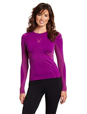 SPYDER RUNNER WOMENS THERMAL COMPRESSION TOP - GYPSY/SASSY PINK - SIZE XS/S