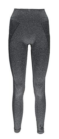 SPYDER RUNNER WOMENS THERMAL COMPRESSION PANTS - BLACK (GREY) - SIZE XL/2XL