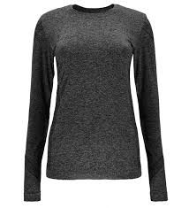 SPYDER RUNNER WOMENS THERMAL COMPRESSION TOP - BLACK (GREY) - SIZE XS/S