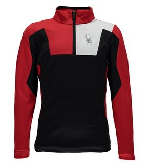 SPYDER AMBUSH BOYS T-NECK TOP - BLACK/RED/WHITE - SIZE XL