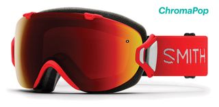 SMITH I/OS WOMENS GOGGLES - LAVA WITH CHROMAPOP SUN RED MIRROR LENS AND CHROMAPOP STORM ROSE FLASH LENS
