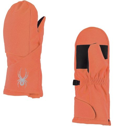 SPYDER BITSY CUBBY GIRLS MITTENS - CORAL - SIZE S