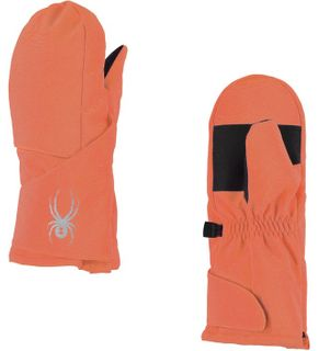 SPYDER BITSY CUBBY GIRLS MITTENS - CORAL - SIZE M