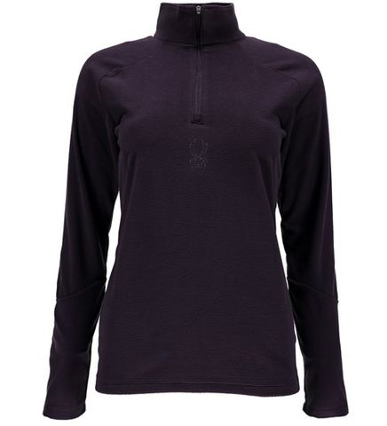SPYDER SHIMMER WOMENS T-NECK TOP - NIGHTSHADE - SIZE XS