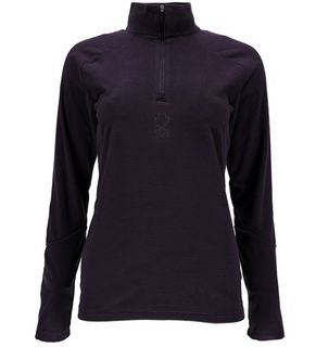 SPYDER SHIMMER WOMENS T-NECK TOP - NIGHTSHADE - SIZE M