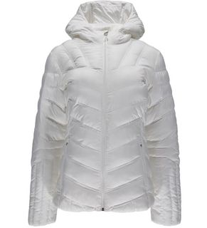 SPYDER GEARED HOODY SYNTHETIC DOWN WOMENS JACKET - WHITE - SIZE L