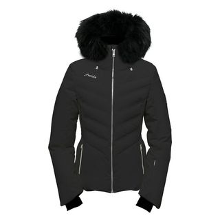 PHENIX CHLOE HYBRID DOWN FUR WOMENS JACKET - BLACK - SIZE 6