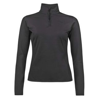 PROTEST FABRIZOY 1/4 ZIP WOMENS TOP - TRUE BLACK