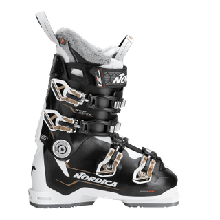 NORDICA SPEEDMACHINE 95W WOMENS SKI BOOTS - BLACK/WHITE/BRONZE